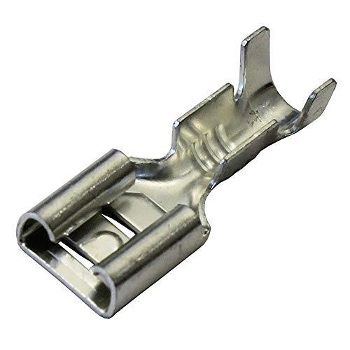 WFBD-CN Batterieklemmen 6.3mm unisolierte Weibliche Spaten Push On Crimpanschluss Nicht isolierte 2,5 Quadratmillimeter