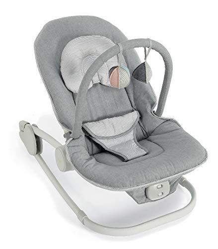 Mamas & Papas Wave Rocker Baby Bouncer Chair, Rocking Cradle - Grey Melange