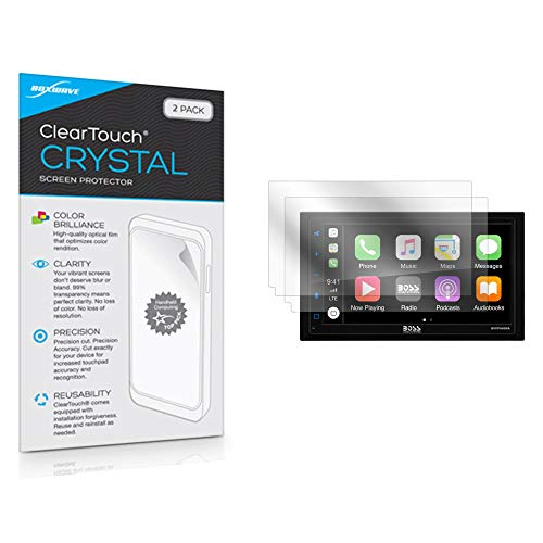 BOSS Audio BVCP9685A Screen Protector, BoxWave [ClearTouch Crystal (2-Pack)] HD Film Skin - Shields from Scratches for BOSS Audio BVCP9685A, BV800ACP