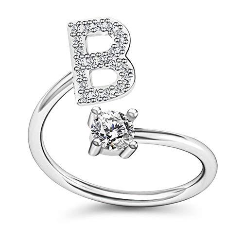Goutui Damen-Ring, Alphabet-Form, Kupfer, Öffnung, verstellbar, Geschenk, Modeschmuck