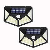 100 LED solar al aire libre luz PIR sensor de movimiento luz de...