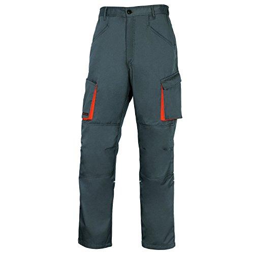 Delta Plus M2GI2VEGT Mach2 - Chaleco de trabajo (poliéster y algodón), S, Gris-Naranja