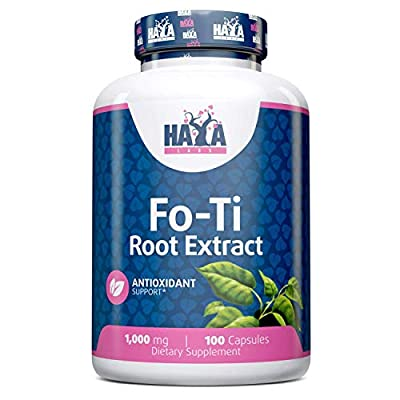 Haya Labs Fo-Ti Root Extract 5000 Mg x 100 Capsules | Strengthens The Muscles, Improves Kidney Function | Reduces Stress Levels, Improves brainfunction