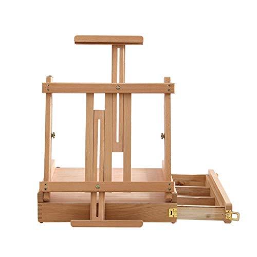 ZTMN Staffelei aus Holz Bilderrahmen Staffelei kann angehoben und abgesenkt Werden, Staffelei, Bilderrahmen, Klapptisch, integrierte Staffelei (Größe: Einzelpumpen)