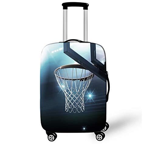 Diseño De Patrón De Baloncesto Equipaje Maleta Funda Protectora Inicio Elástico A Prueba De Polvo Trolley De Viaje Equipaje Protector De Equipaje Funda 29-32 Pulgadas XL