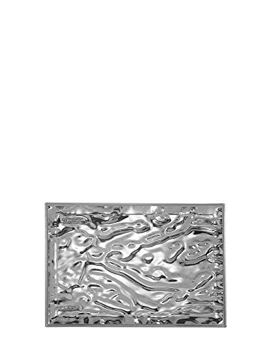 Kartell Plateau Dune Petit, Plastique, Chrome, 46 x 32 x 2.5 cm