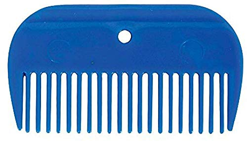 Lincoln Plastic Mane Comb One Size Blue