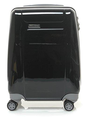 Piquadro Odissey 4 Rulli Trolley Cabina 52 Centimetri, schwarz / grau