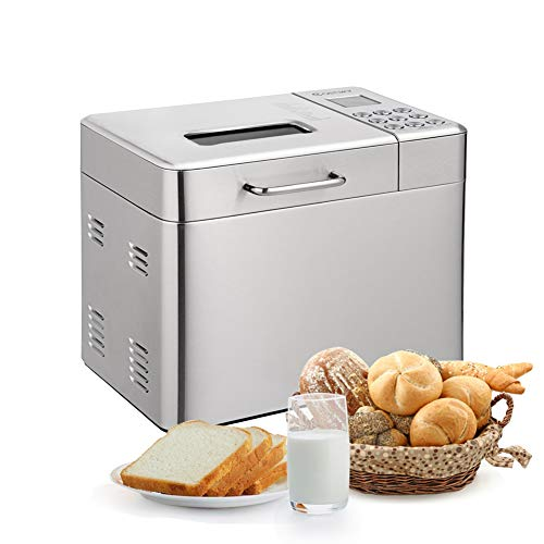 Find Bargain Automatic Bread Maker with 15 Programs,Safeplus 2LB Programmable Bread Machine with 15 Hours Delay Timer, 1 Hour Keep Warm