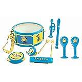Minions - 7 Instruments de Musique Enfant - Set - Tambourin - Maracas - castagnette -...