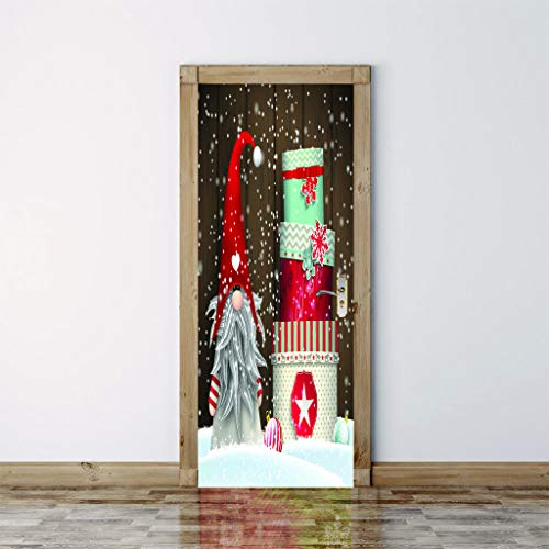 Umweltfreundliche Vinyl 3d Print Karussell Lollipop Puppe Tapeten Wandbilder Abnehmbare Tür Aufkleber Diy Für Wohnzimmer Roomkids Schlafzimmer Home Dekore 2 Teile/satz 77 * 200 cm