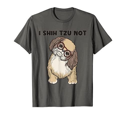 Funny I Shihtzu Not Gift For Men Women Cool Dog Eye Gafas Camiseta