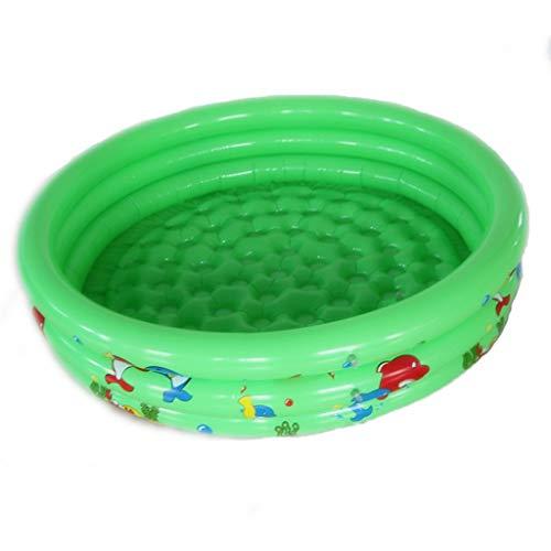 Yowablo Aufblasbare Kinder Schwimmen Ocean Ball Pool 90cm runden Garten Party Swimmingpool (90X25CM,Grün)