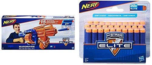 PRWJH E0011EU4 N-Strike Elite SurgeFire Blaster mit 15 dardi ETA 8 + anni