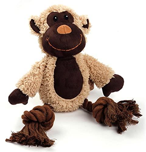 ALL FOR PAWS Cuddle Knotted Rope Jouet pour chien en imitation peau de mouton avec cordes
