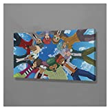 CBYLDDD Inazuma Eleven Poster Wall Art Decoration Prints Lienzo para el Dormitorio Sala de Estar Home Kids Dormitorio Decoración Pintura 12x24in Sin Marco