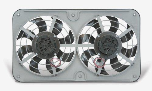"Flex-a-lite 480 X-treme S-blade 12"" Dual Reversible Fan with Controls,Black"