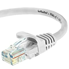 CAT6 / CAT5e: Supports both Cat6 and Cat5e applications. The RJ45 connector used for this cable fits perfectly in both Cat6 and Cat5e ports. CAPABILITY: Mediabridge Cat 6 cables can support up to 10 Gigabits per second (10 times the bandwidth of Cat5...