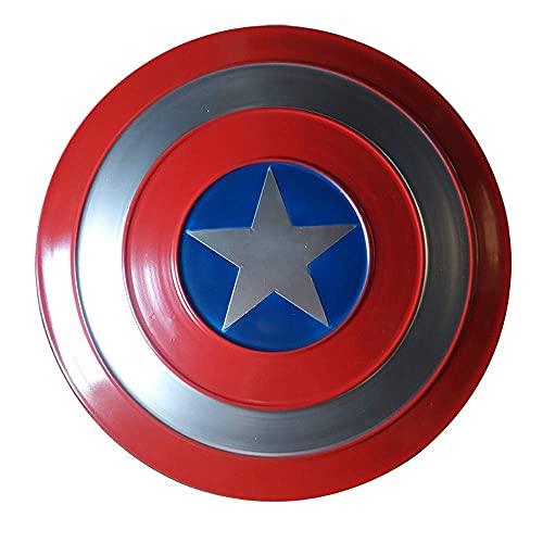 KDDEON Capitán América Shield Metal Avengers Series Marvel Props Adultos Niños Cosplay Superhéroe Retro Disfraz Escudo de Halloween Bar Decoraciones, 3 tamaños