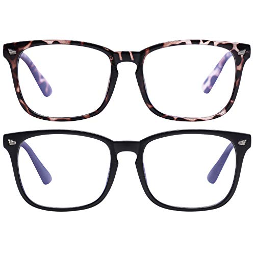 Blue Light Blocking Glasses Square Nerd Eyeglasses Frame Anti Blue Ray Computer Glasses Non Prescription