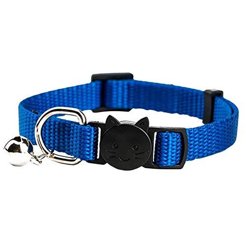 Aimili Collares de mascotas, collares de gato, collares de mascotas, collares de gato, collares de corbata de mascotas, collares de gato personalizados, azul/20-31 cm