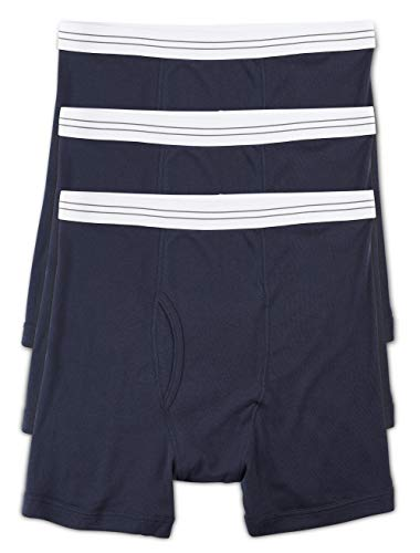 Harbor Bay by DXL Big and Tall Knit Boxer Briefs, Navy XL, Pack of 3