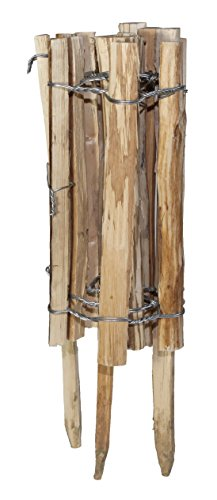 Preisvergleich Produktbild Windhager Staketenzaun Beeteinfassung,  Braun,  120x33 / 50cm