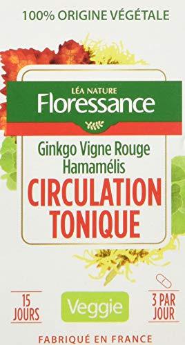 Floressance Phytothérapie Circulation Végétale Circulation Tonique Ginkgo/Vigne Rouge/Hamamélis 45 Gélules - Lot de 4