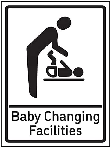 VSafety Baby Changing Facilities - 200mm x 300mm - 1mm Rigid Plastic