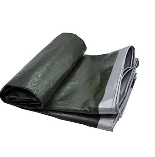 LXXTI dekzeil, geweven zeil, 180 g/m2, groen, keuze uit 8 verschillende maten. Dekzeil met oogjes voor tuinmeubelen, trampoline, auto, waterdicht, scheurvast, waterdicht