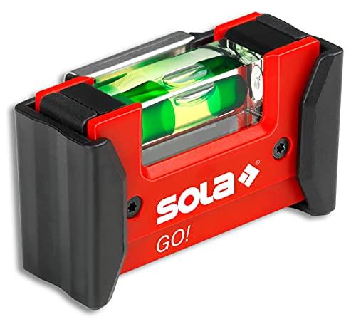 Sola GO! CLIP - Mini-Wasserwaage aus glasfaserverstärktem Kunststoff - Sola Wasserwaage klein für Elektriker - kleine Pocket-Wasserwaage - mit Gürtelklemme