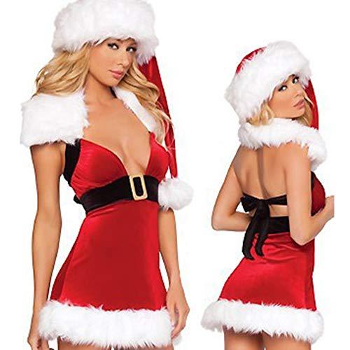 WANXX Vestido de Navidad para Mujer Disfraces Navideños Talla Única para Adultos