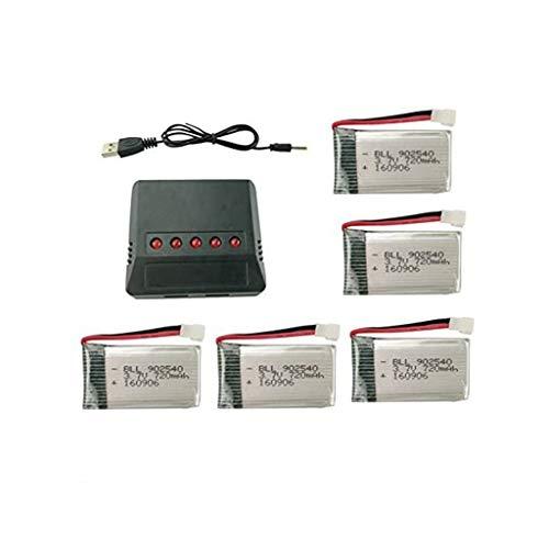 sea jump Lipo Battery 5in1 Charger+5PCS 3.7V 720mAh Battery for Syma X5C X5C-1 X5A X5 X5SC X5SW H5C V931 S5C FQ36 UFO 3000 UDI U45 U45W T5W JJRC H42 SS40 GoolRC T32