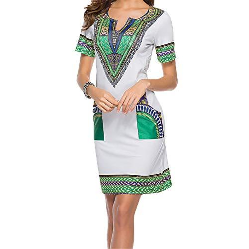 Chenlao7gou621 Vestido De Mujer con Estampado éTnico De Moda