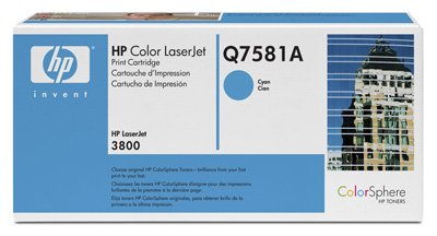 Toner für HP - Q7581A (81A) Cyan