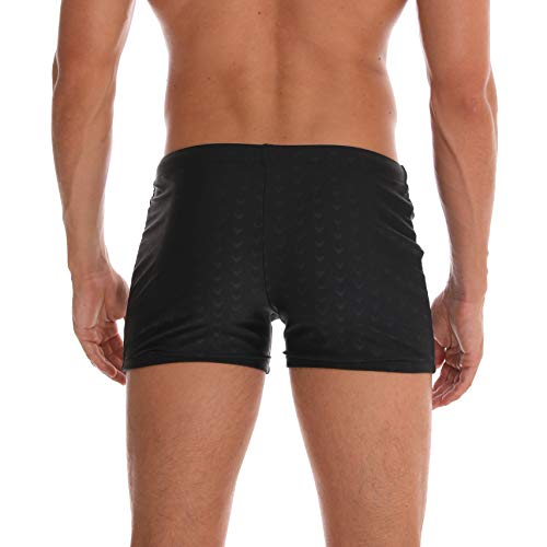 Arcweg Bañadores de Natación Traje de Baño Corto para Hombres Calzoncillos Secado Rápido Elástica Almohadillas Extraídas Deportes Acuáticos Negro L