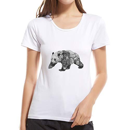 Bluse Damen Mädchen Cartoon Tier T Shirt Kurzarm T Shirt Aus Baumwolle Top