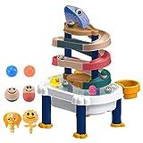 WIIBST Marble Run, Juguete de baño para bebés, Juego de Juguetes de Pista para niños, Ventosa de Pared.