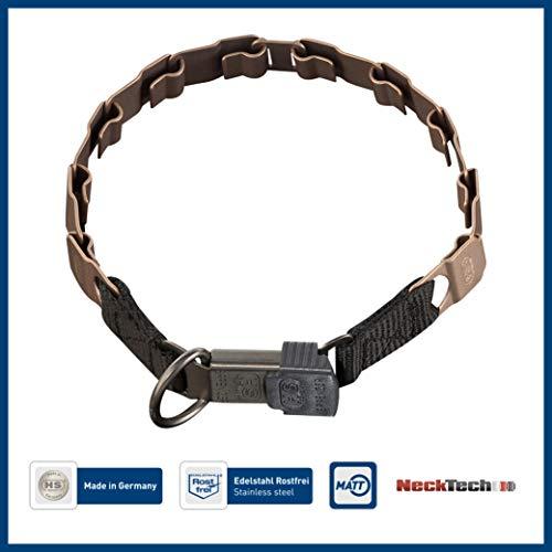 Sprenger Hundehalsband Neck-Tech Fun mit ClicLock Verschluss I Hundehalskette aus nickelfreiem Curogan, Flache austauschbare Gliederkette, kupferbraun, 60cm