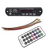 HiLetgo 12V MP3 WMA Audio Bluetooth Decoding Board w/SD Card Slot/USB/FM/Remote Decoding Module for Car with LCD Display and Remote Controller