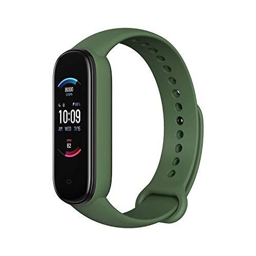 Amazfit Band 5 Smartwatch Tracker Fitness Reloj Inteligente Deporte Duración de batería 15 días Oxigeno en Sangre Ritmo Cardiaco Monitoreo del Sueño Voz Soporta con Alexa Verde
