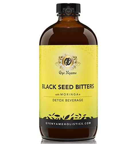 Black Seed Bitters with Moringa 3 x 16 oz Bottles~Gye Nyame~Detox and Save