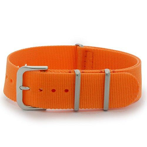 CASSIS[カシス] ナイロン 時計ベルト TYPE NATO タイプナトー 20mm オレンジ 交換用工具付き #141.601S086020