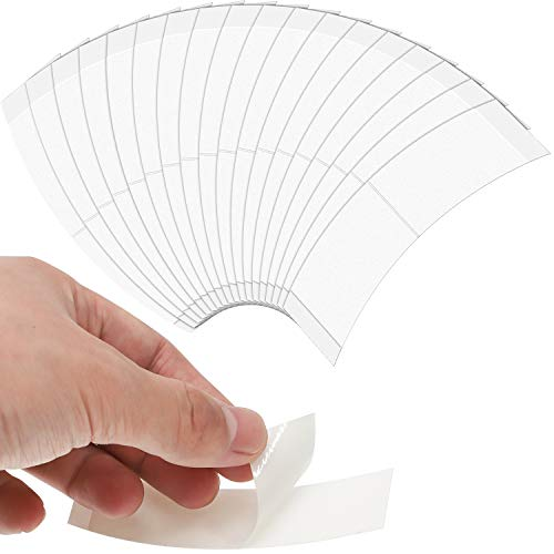 60 Pieces Hair Extension Tape Tabs Double Sided Adhesive Extension Tapes Front Support Wigs Tapes for Replacement Hair Extension Supplies (White)
