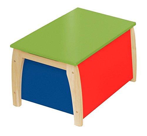 roba 50708 - Kindertruhe, Massivholz, Medium Density Fibreboard lackiert, Truhenfüllung farbig lackiert 35 x 56 x 40,5 cm