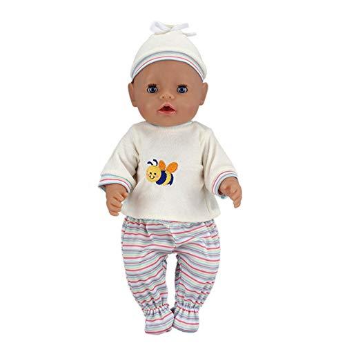 SMIAO Simulation Puppe Kleidung Süße Küken Tier Schlafanzug Set + Hut für 18 Inch American Puppe &43cm Neugeborene Baby - A024