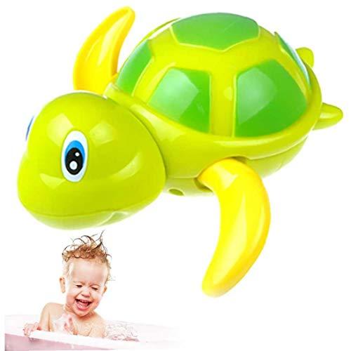 nJiaMe 1 Pc baño de Juguete Que Nada Tortugas Flotante Wind-Up Baby Bath Toy adorables Tortuga Bañera Juguetes para los niños Juguetes flotantes Regalo del día de los niños (Verde)