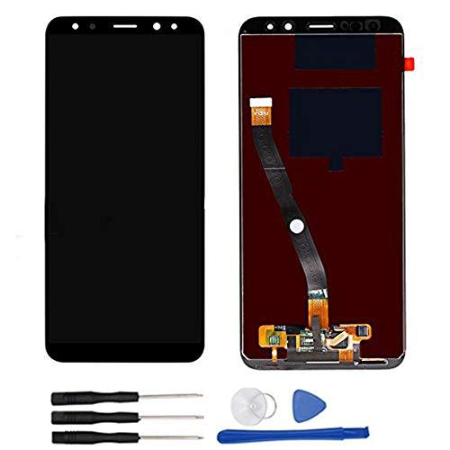 Soliocial Asamblea Pantalla LCD Pantalla Táctil Vidrio para Huawei Mate 10 Lite / G10 / G10 Plus RNE-L01 L02 L03 L21 L22 L23 Negro