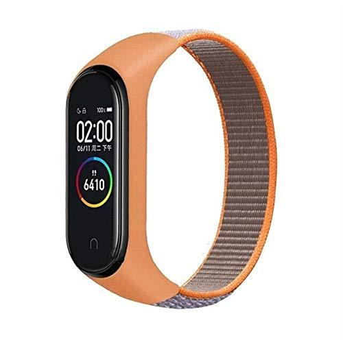 DALIANMAO Pulsera para MI5 Strap Nylon Sport Loop Reloj Pulsera Pulsera Pulsera para MI4 3 Strap (Band Color : Vitamin C)
