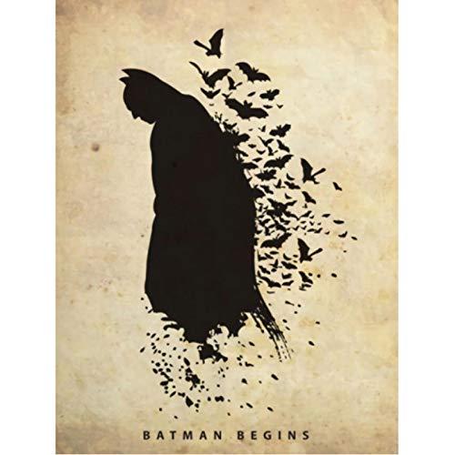 shuimanjinshan Superhéroe Batman Arte de Pared decoración del hogar Arte decoración nórdica Cartel de habitación de niños de guardería 40x60cm Sin Marco HZ-1534